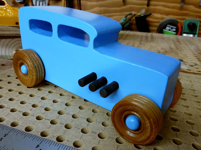 20171116-134907 - Wooden Toy Car - Hotrod Freaky Ford - 1932 Ford - Sedan