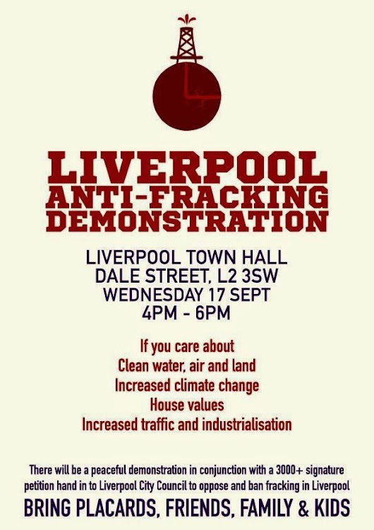 Liverpool Demonstration Against Fracking