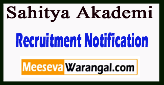 Sahitya Akademi Recruitment Notification 2018