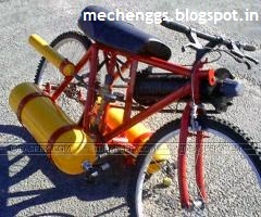 Compressed air bicycle