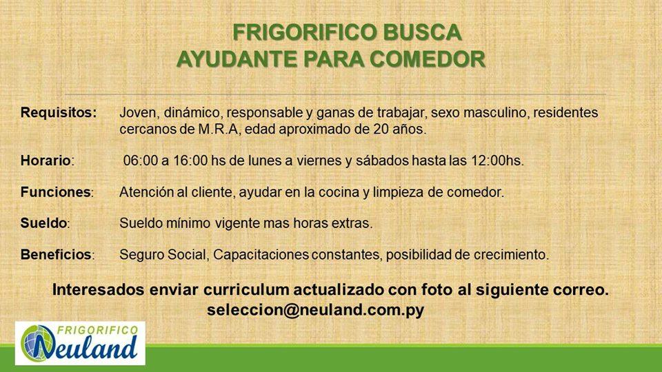 Trabajo De Ayudante De Cocina   Bolsa De Trabajo Paraguay Empleos Ayudante De Cocina