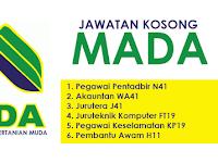 Jawatan Kosong di Lembaga Kemajuan Pertanian Muda MADA - Gaji RM1,218 - RM9,546