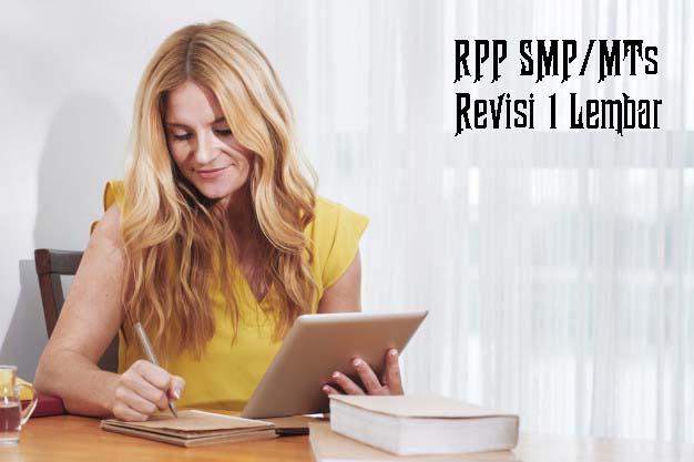 RPP SMP Revisi 1 Lembar
