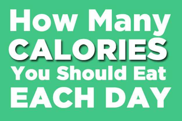 How many calories should you eat in a day?