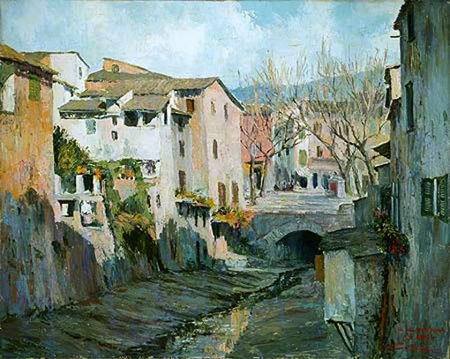 Bernadí Celiá Colom, Calle de Soller, Mallorca en Pintura, Cala San Vicente, Mallorca en Pintura, Paintirng of Cadaqués, Mallorca pintada, Paisajes de Mallorca, Mallorca en Pintura