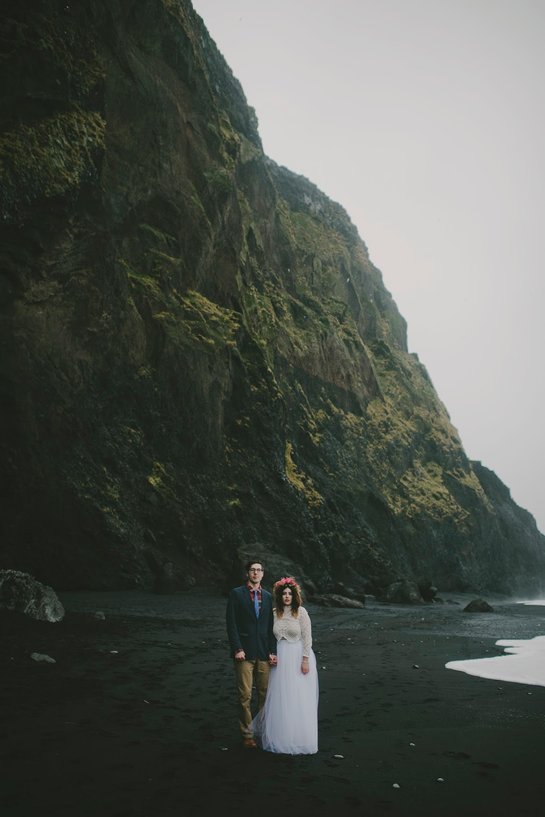 Reynisfjara, Vík, wedding, portraits, Violet, Short, elopement, Iceland