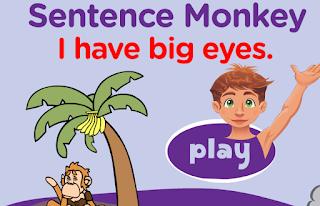 http://www.freddiesville.com/games/body-parts-sentence-monkey-game/