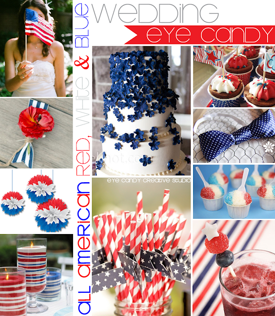 red, white and blue, patriotic wedding, flag, stars & stripes, blue bow tie