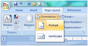 Cara Mengatur Orientasi Kertas dan Memilih Ukuran Kertas