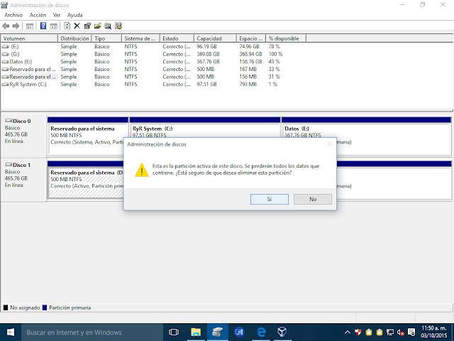 Crear particiones desde Windows