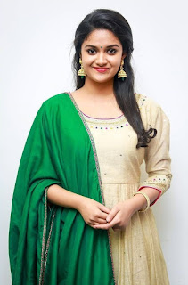 Keerthy Suresh in Wheat Color Dress with Cute and Lovely Smile 7
