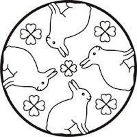 malvorlagen zum ausmalen: kinder-malvorlagen: mandala kaninchen