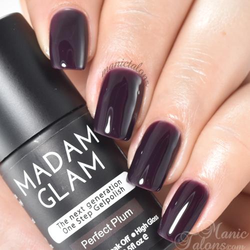 Madam Glam Gel Polish Perfect Plum Swatch