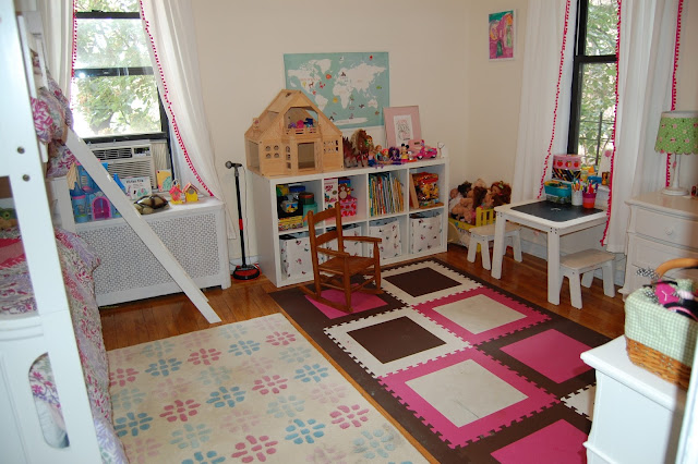 Baby meets city a kids 39 room update with flor carpet tiles for Carpet squares for kids rooms