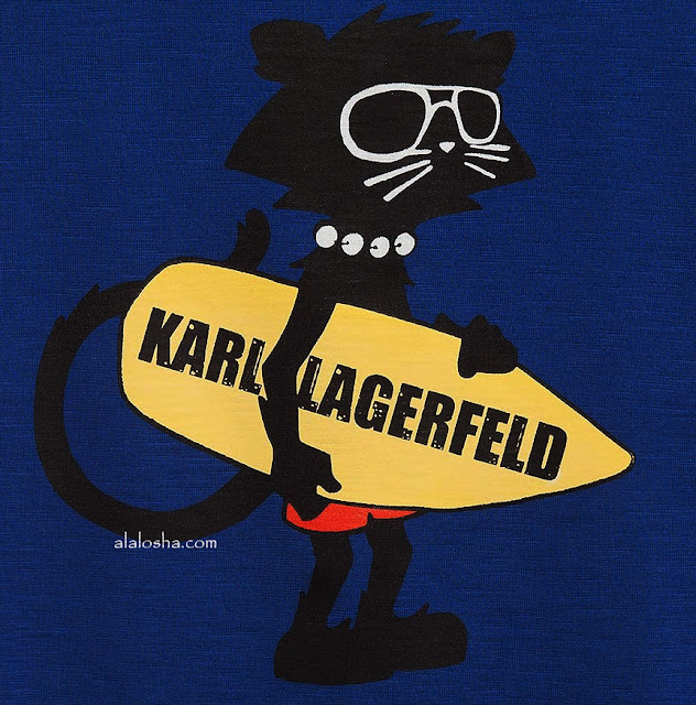 Boys Blue 'Karleidoscope' Cat Print T-Shirt