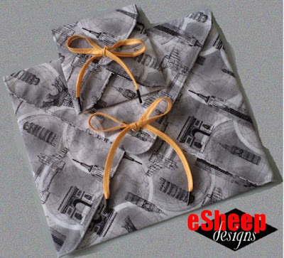 fabric envelopes crafted by eSheep Designs
