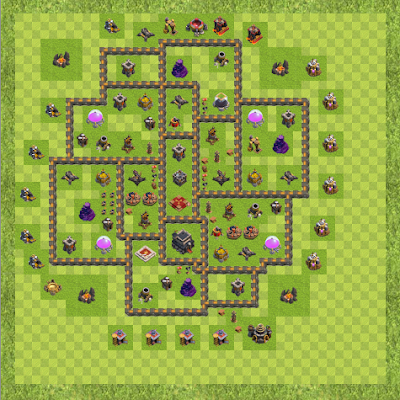 War Base Town Hall Level 9 By vahidj9000 (vcgg TH 9 Layout)