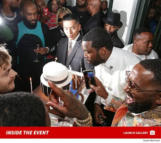 Meek Mill celebrates his 32nd birthday with his famous Hip-hop crew and Friends.