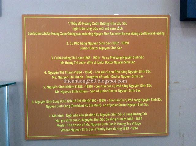 Lăng cụ Phó bảng Nguyễn Sinh Sắc | Nhà trưng bày