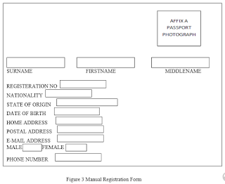 Figure 3 Manual Registration Form