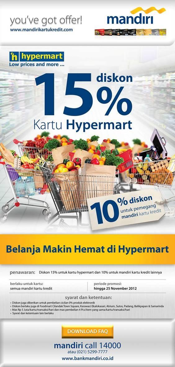 Info Promo Kartu Kredit: Belanja Hemat Hypermart, Diskon