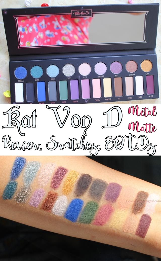 Kat von D Metal Matte Eye Palette Review, Swatches, EOTD