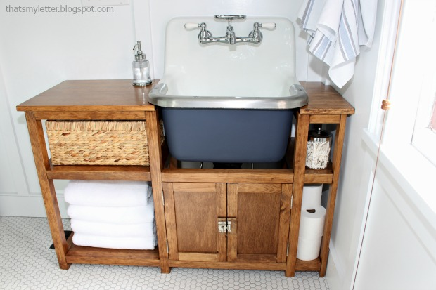 wall mounted sink vanity surround