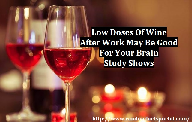 Low Doses Of Wine After Work May Be Good For Your Brain, Study Shows