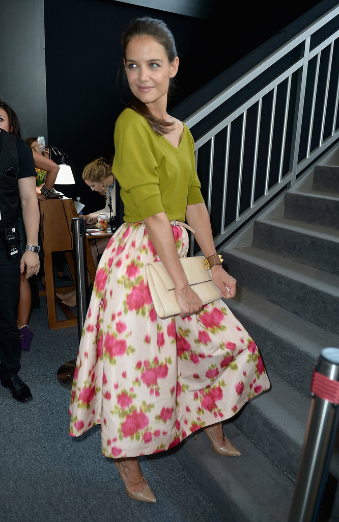 Celeb Diary Katie Holmes New York Fashion Week