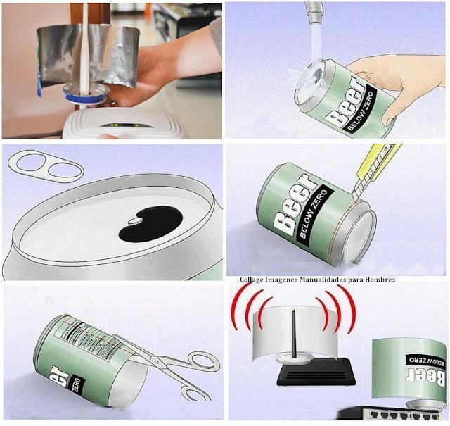antena, wifi, latas, señal, amplificar, ideas útiles