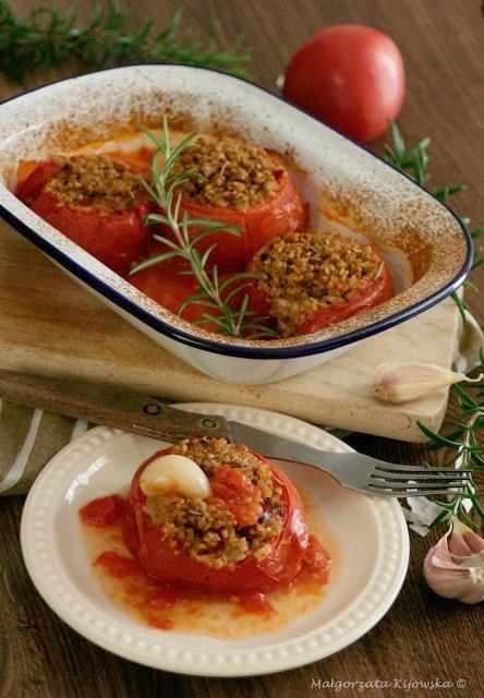kasza owsiana z pomidorami, proste danie, lato, daylicooking, Małgorzata Kijowska