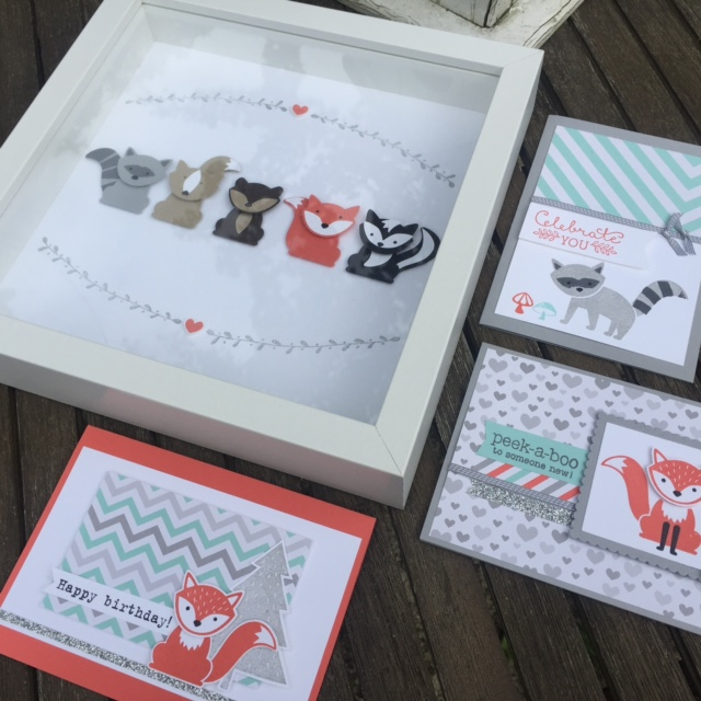 foxy friends stamps stampin up kerry timms class cardmaking papercraft create craft creative crafting female hobby stamping ink fox children party gift frame kids cute