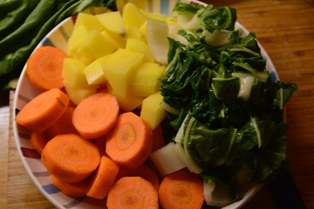 ingredients chard soup