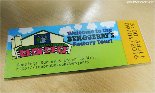 Tickets del Tour por la Fábrica de Helados de Ben & Jerry's en Vermont