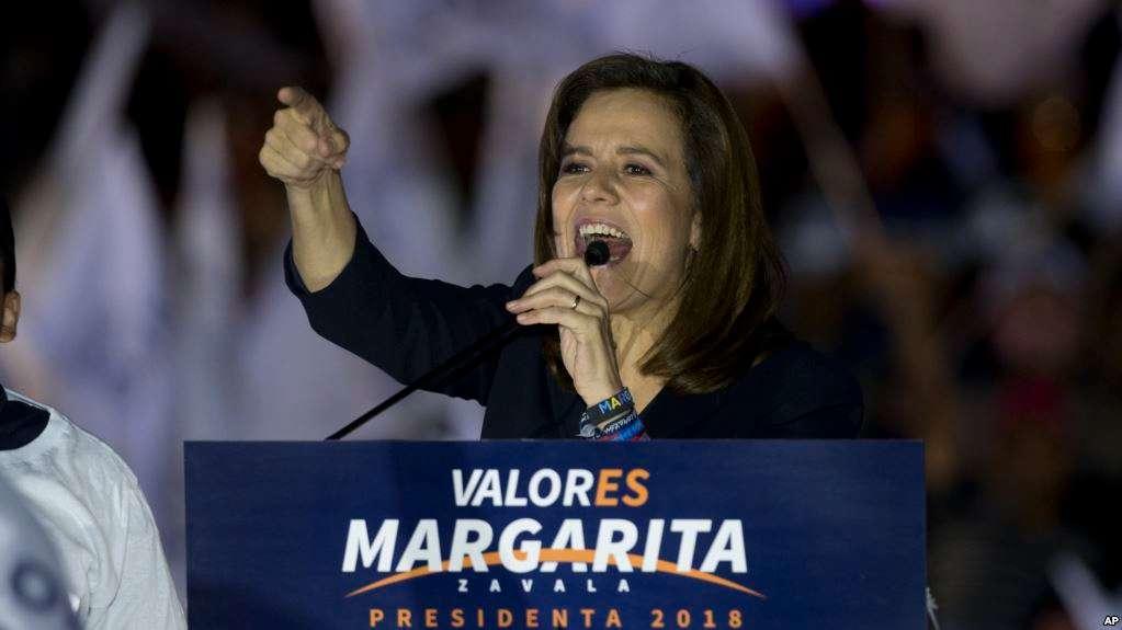 Margarita Zavala tenía menos de 5 por ciento de intención de voto en encuestas / AP