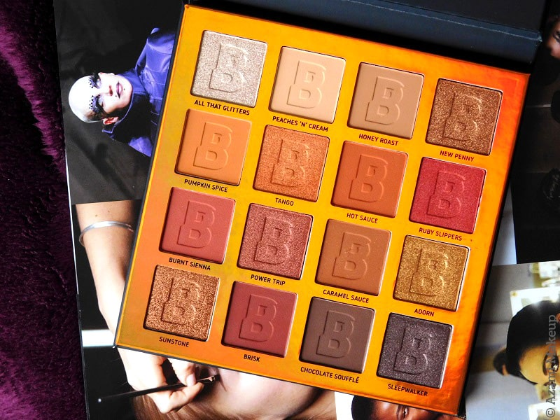 BeautyBay   EYN Everything You Need Fiery 16-Colour Eyeshadow Palette - Review & Swatches - Avis - Bright - Nude - Berry - Warm-Toned