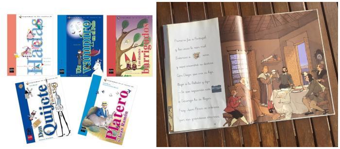 cuentos libros infantiles en letra ligada y pictogramas aprender a leer sm