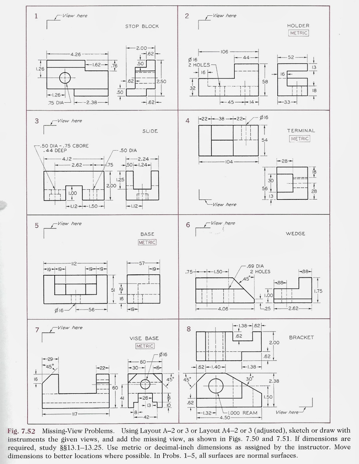 Engr Orthographic Multiview Projections