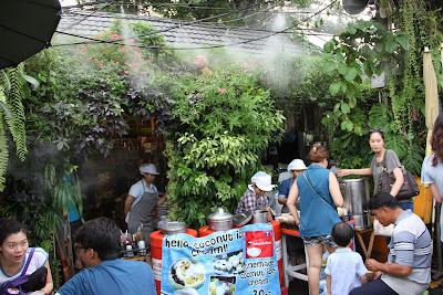 Sezioni di mercato di Chatuchak a Bangkok
