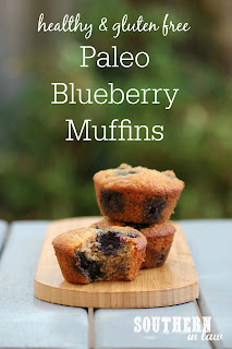 Easy One Bowl Paleo Blueberry Muffins Recipe