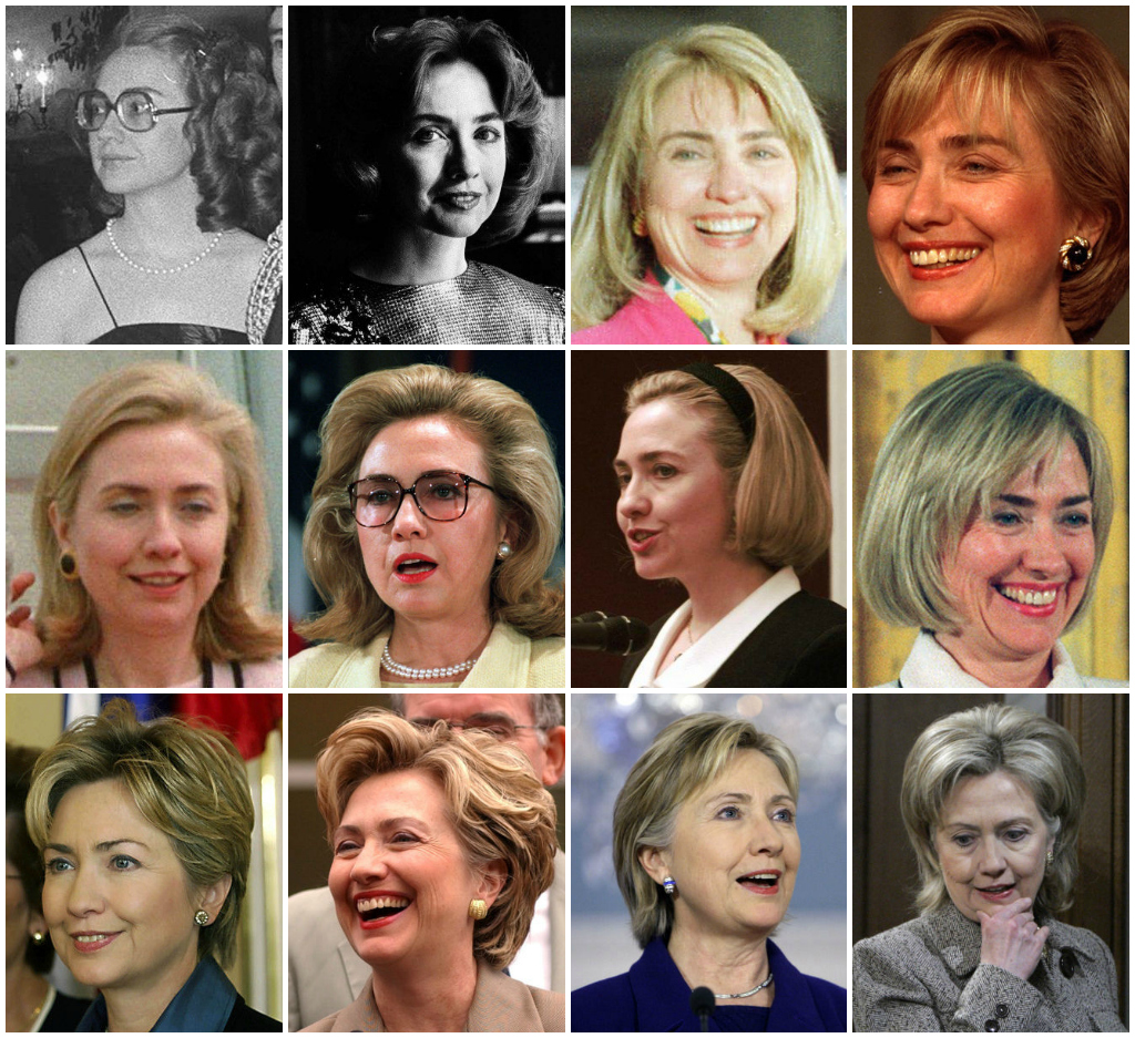 hillary clinton's hairstyles!