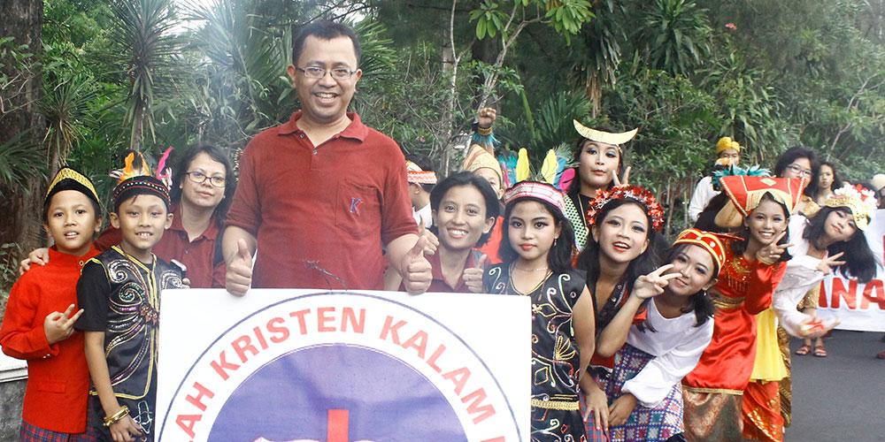 SD Kristen Kalam Kudus Meriahkan Kirab Ageng Manahan