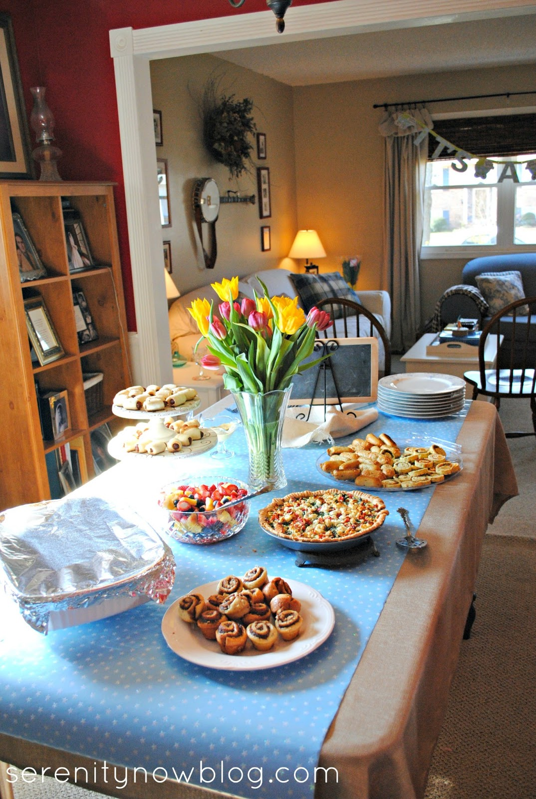 Serenity Now: A Simple Baby Shower Brunch