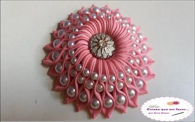 flor de fita  gorgorão com perola