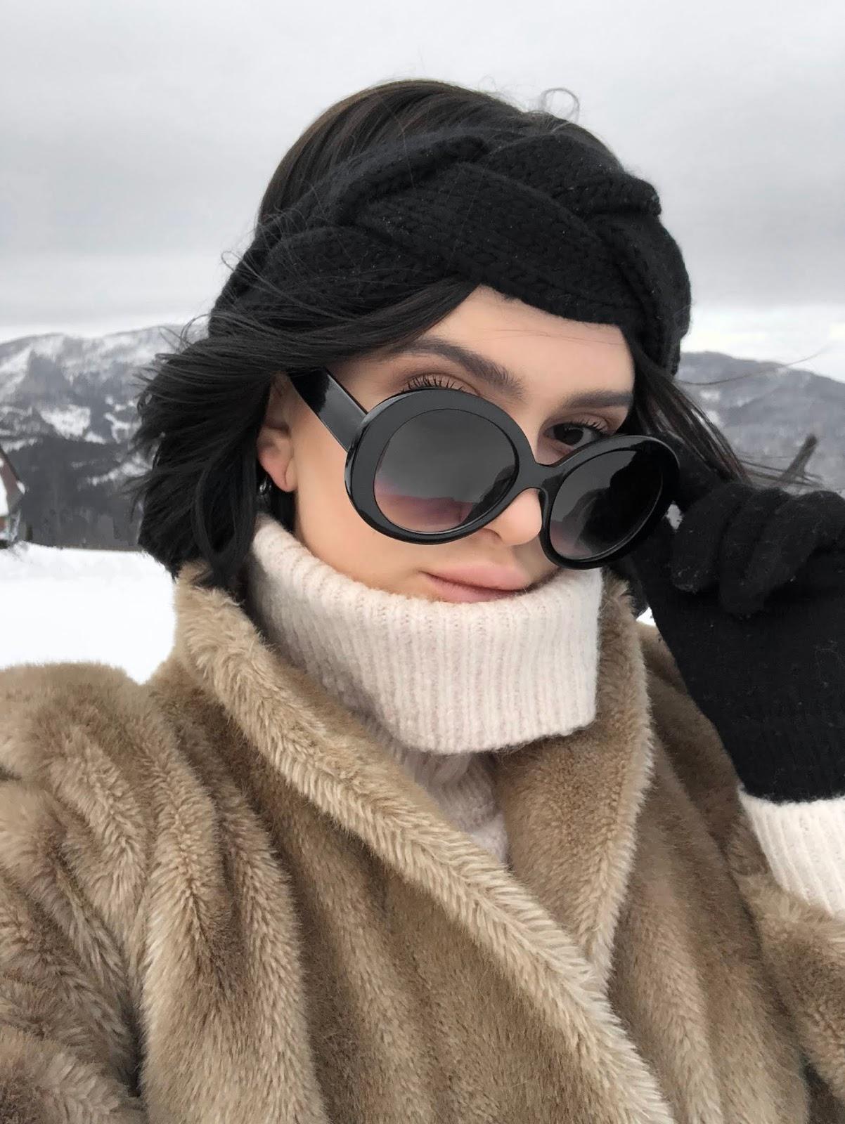 stylizacja, zimowa stylizacja, co nosić zimą, stylizacja w góry, futro vintage, stylizacja na zimę