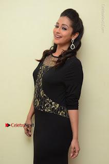 Telugu Actress Manasa Manohar Stills in Black Long Dress at Naku Nene Thopu Turumu Trailer Launch  0032.JPG