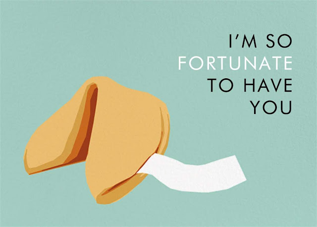 Food-Themed Valentine's Day Cards -- Fortune Cookie