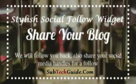 Top 5 latest  Widgets Stylish Social Media Follow Buttons For Blogger