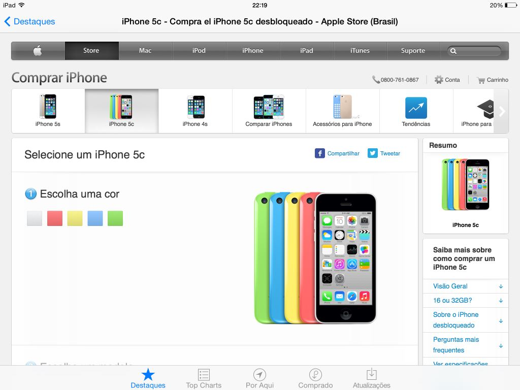 iphone 5c apple store apple inclui banner para compra do iphone 5c na app 14632