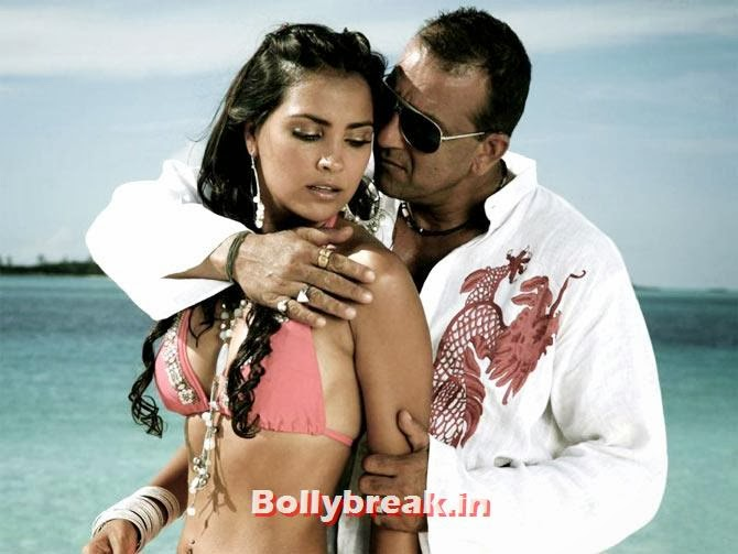Lara Dutta and Sanjay Dutt in Blue, Bollywood Actresses in Pink bikini - 2014, 2013, 2012